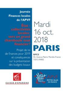 Journée de présentation du projet de loi de finances 2019 et ses conséquences sur les budgets locaux - septembre 16
