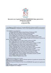 Note de cadrage - Rencontre avec le général Christian RODRIGUEZ, Major général de la gendarmerie nationale - août 18