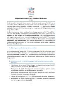Transition énergétique : les changements prévus par le PLF 2019 - août 27