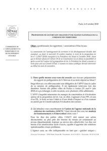 PPL Agence nationale de cohésion des territoires - Avis APVF