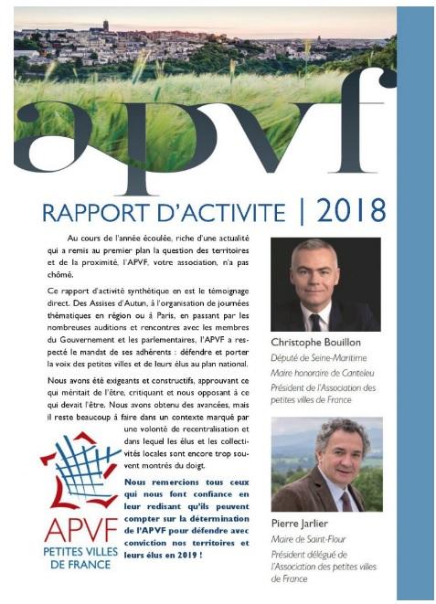 Retrouvez le rapport d'activité 2018 de l'APVF !