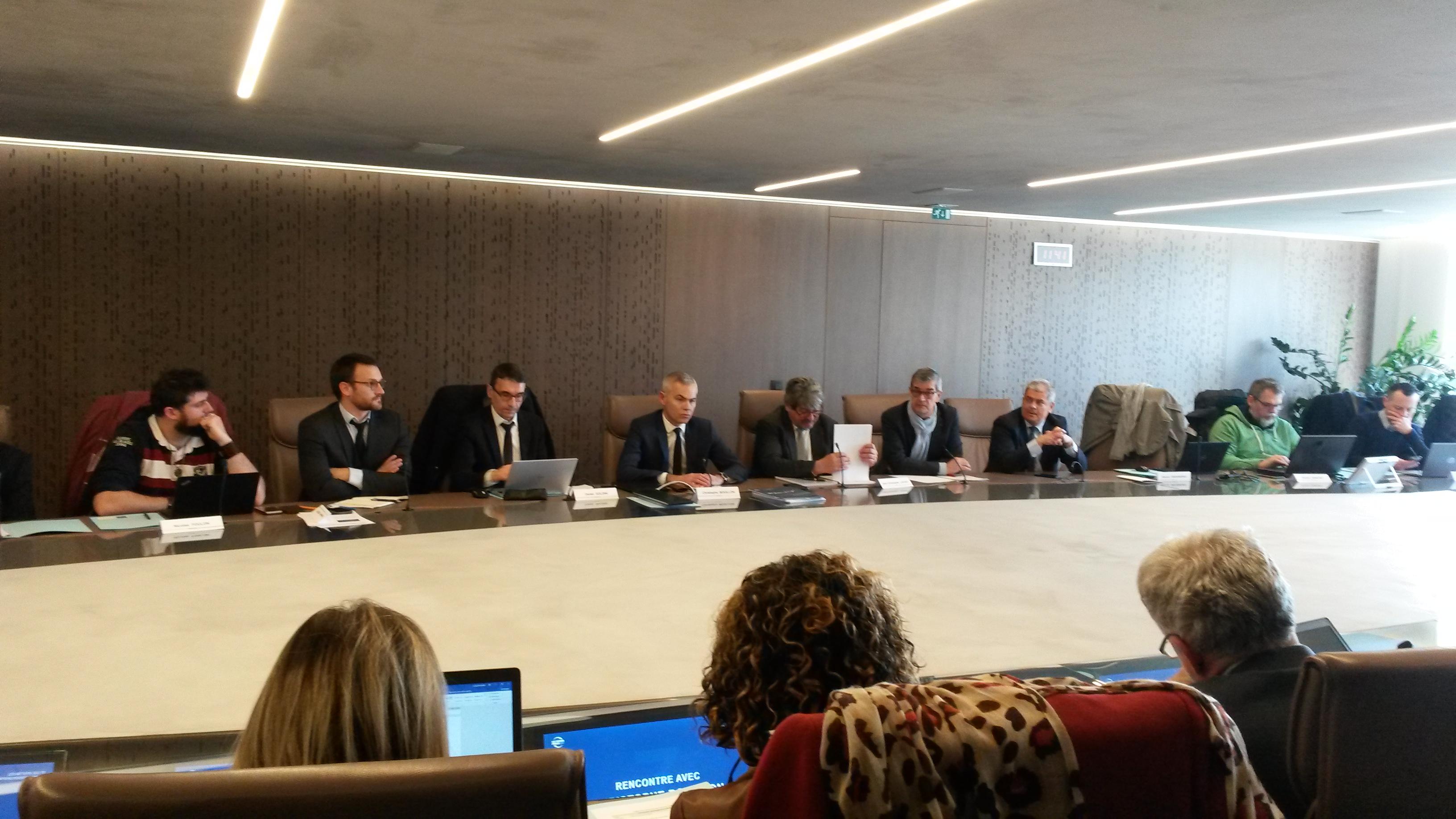 Développement durable: Christophe Bouillon a rencontré les acteurs des travaux publics