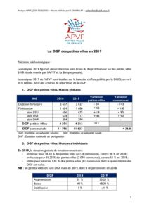 Répartition de la DGF : analyse de l'APVF