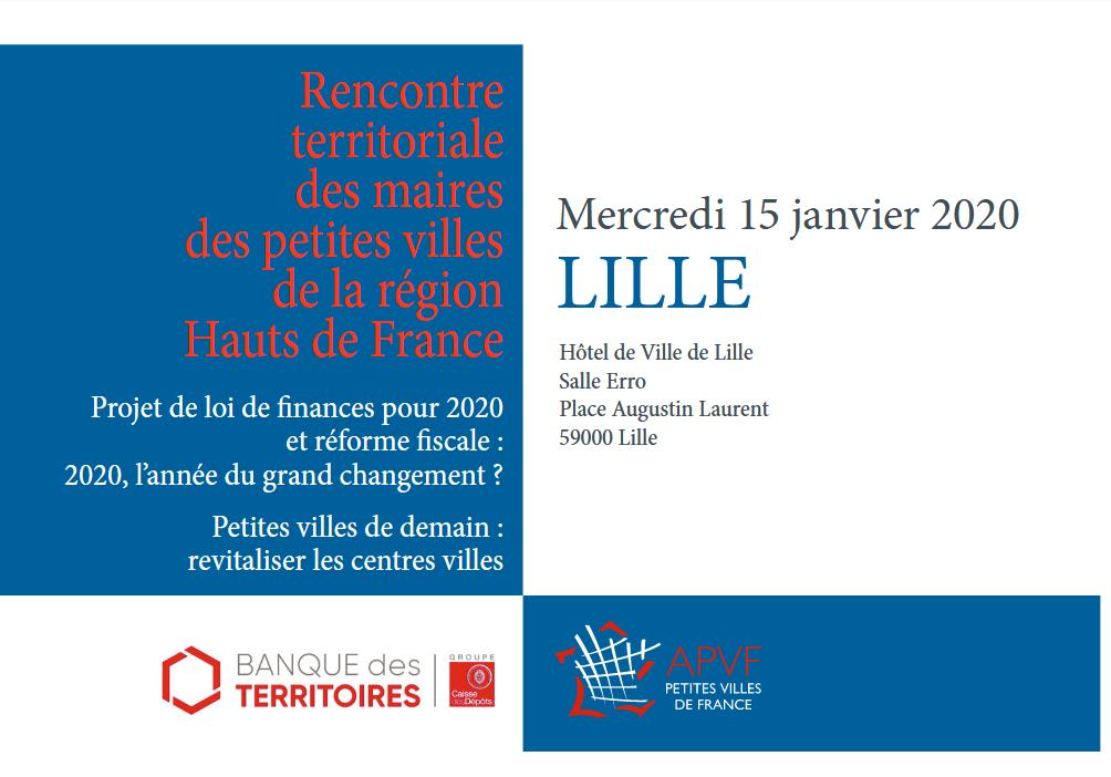 15 janvier : Rencontre territoriale des maires des petites villes de la région Hauts de France