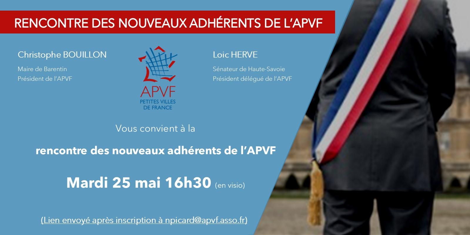 Webinaire : Rencontre des nouveaux adhérents de l'APVF